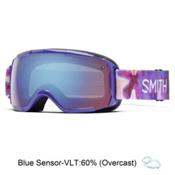 Smith Grom Girls Goggles 2016, Violet Inkblot-Blue Sensor Mir, medium