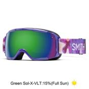 Smith Grom Girls Goggles 2016, Violet Inkblot-Green Sol X Mir, medium