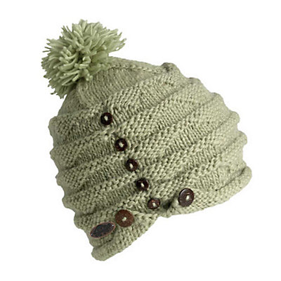 Turtle Fur Acorn Knit Pom Hat, Sage, viewer