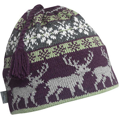 Turtle Fur Reindeer Games Beanie, Raisin, viewer