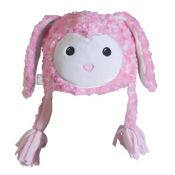 Turtle Fur Fuzzy Bunny Kids Hat, Powder Pink, medium