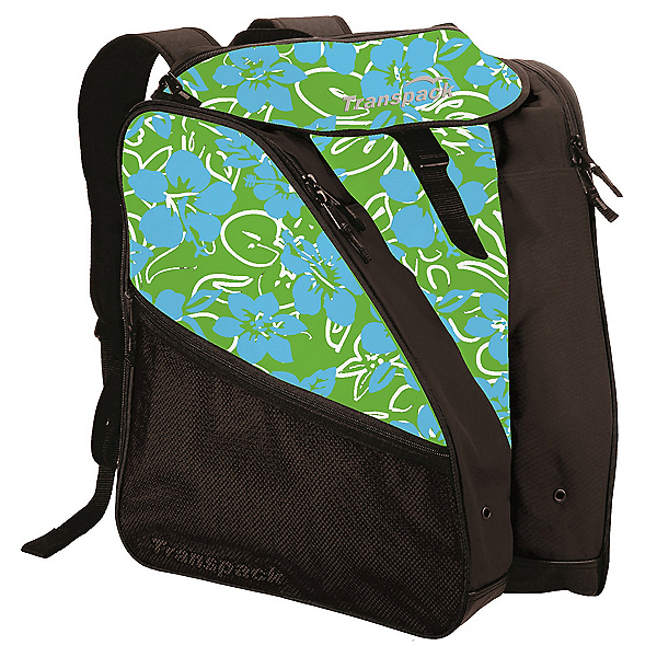 Transpack XTW Ski Boot Bag, Lime-Aqua-White Multi Floral, 600