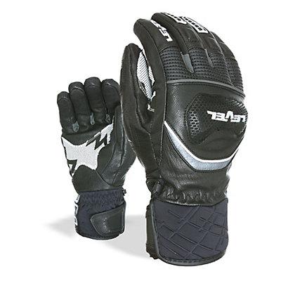 Level Race Ski Racing Gloves, Black, viewer