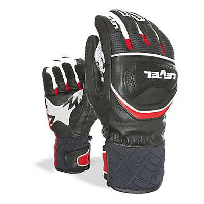 Level Race Ski Racing Gloves, Black, viewer