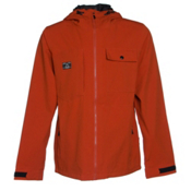 Armada Highland Mens Shell Ski Jacket, Burnt Sienna, medium