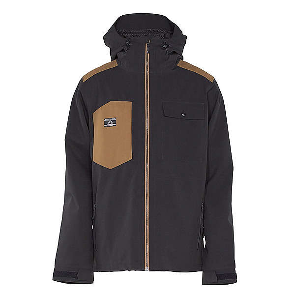 Armada Highland Mens Shell Ski Jacket, Black, 600