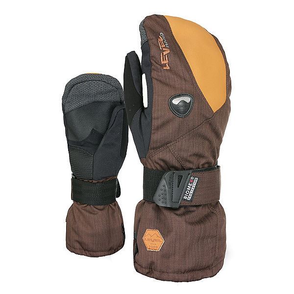Level Fly Mittens, Pk Brown, 600