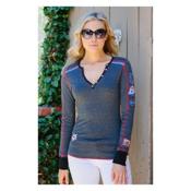 Alp-n-Rock Vintage Racer Womens Shirt, Heather Black, medium