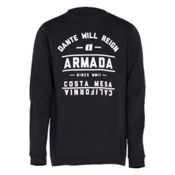 Armada Meta Crew Mens Sweatshirt, Black, medium