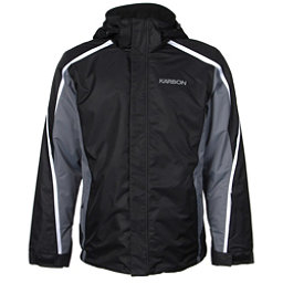 Karbon Mars Mens Insulated Ski Jacket, Black-Smoke-Arctic White, 256