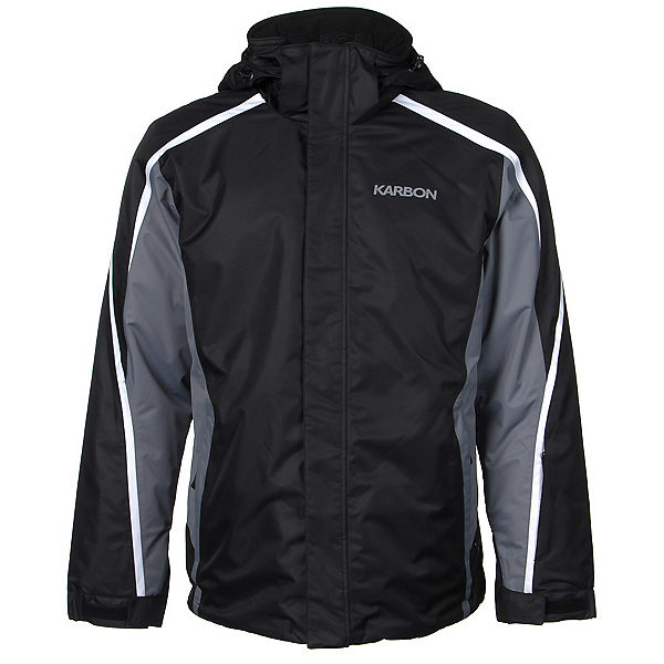 Karbon Mars Mens Insulated Ski Jacket, Black-Smoke-Arctic White, 600
