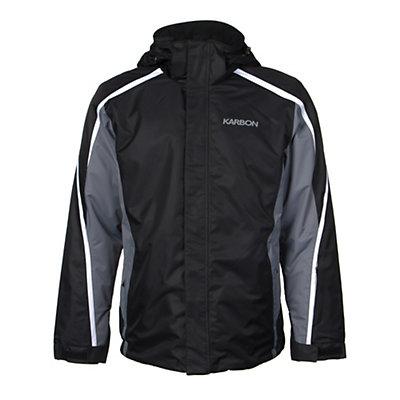Karbon Mars Mens Insulated Ski Jacket, Fern-Black-Arctic White, viewer