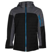 Karbon Coal Mens Insulated Ski Jacket, Black-Charcoal-Glacier Blue, medium