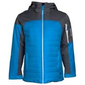 Karbon Coal Mens Insulated Ski Jacket, Glacier Blue-Charcoal-Platinum, medium