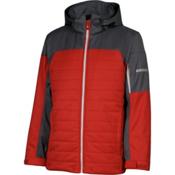 Karbon Coal Mens Insulated Ski Jacket, Red-Charcoal-Platinum-Platinum, medium