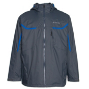 Columbia Whirlibird Interchange Tall Mens Insulated Ski Jacket, Graphite-Hyper Blue, medium