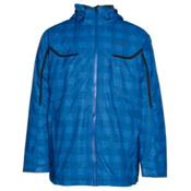 Columbia Whirlibird Interchange Tall Mens Insulated Ski Jacket, Hyper Blue Plaid, medium