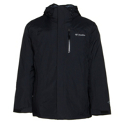 Columbia Lhotse II Interchange Tall Mens Insulated Ski Jacket, Black-Graphite, medium