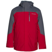 Columbia Lhotse II Interchange Tall Mens Insulated Ski Jacket, Rocket-Graphite, medium