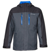 Columbia In Bounds 650 TurboDown Mens Insulated Ski Jacket, Graphite-Black-Hyper Blue, medium