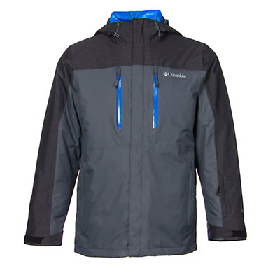 Columbia In Bounds 650 TurboDown Mens Insulated Ski Jacket, Graphite-Black-Hyper Blue, viewer