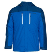 Columbia In Bounds 650 TurboDown Mens Insulated Ski Jacket, Hyper Blue-Marine Blue-White, medium