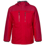 Columbia In Bounds 650 TurboDown Mens Insulated Ski Jacket, Bright Red-Rocket-Graphite, medium