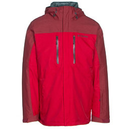 Columbia In Bounds 650 TurboDown Mens Insulated Ski Jacket, Mountain Red-Jester Red-Deep G, 256