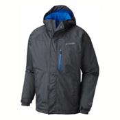 Columbia Alpine Action Tall Mens Insulated Ski Jacket, Graphite-Super Blue, medium