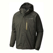 Columbia Alpine Action Tall Mens Insulated Ski Jacket, Gravel-Peppercorn, medium