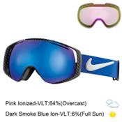 Nike Khyber Goggles, Game Royal-Dark Smoke Blue Ion + Bonus Lens, medium