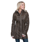 KUHL Dani Sherpa Womens Jacket, Oak, medium