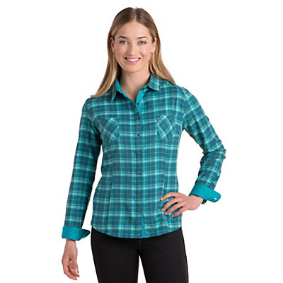 KUHL Klara Flannel Shirt, Deep Sea, viewer