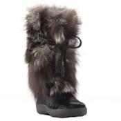 Pajar Fox Trot Womens Boots, Black-Silver Fox, medium