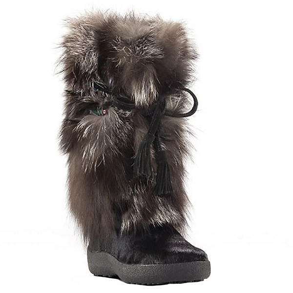 Pajar Fox Trot Womens Boots, Black-Silver Fox, 600