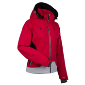 Nils Fran Womens Insulated Ski Jacket, Red-Black-Silver, medium