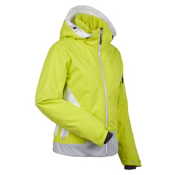 Nils Fran Womens Insulated Ski Jacket, Chartreuse-White-Silver, medium