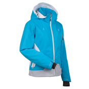 Nils Fran Womens Insulated Ski Jacket, Aqua-White-Silver, medium