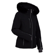 Nils Hannalee Real Fur Womens Insulated Ski Jacket, Black, medium