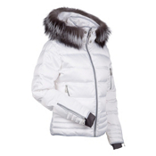 Nils Larisa Real Fur Womens Insulated Ski Jacket, White, medium