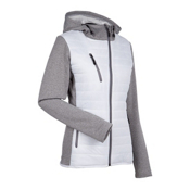 Nils Camilla Womens Jacket, White-Charcoal, medium