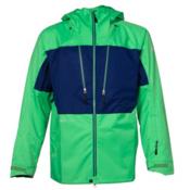 686 GLCR Ether 3-Ply Mens Shell Snowboard Jacket, Kelly Twill, medium