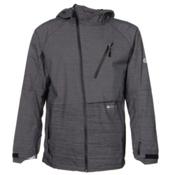 686 GLCR Hydra Thermagraph Mens Shell Snowboard Jacket, Black Zig Zag Dobby, medium