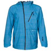 686 GLCR Hydra Thermagraph Mens Shell Snowboard Jacket, Blue Zig Zag Dobby, medium