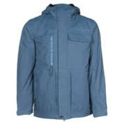 686 Authentic Smarty Form Mens Insulated Snowboard Jacket, Slate Blue Pincord, medium