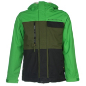 686 Authentic Smarty Form Mens Insulated Snowboard Jacket, Green Colorblock, medium