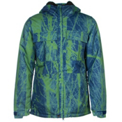 686 Authentic Moniker Mens Insulated Snowboard Jacket, Indigo Tree, medium