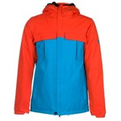 686 Authentic Moniker Mens Insulated Snowboard Jacket, Burnt Orange Colorblock, medium