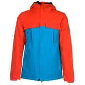 686 Authentic Moniker Mens Insulated Snowboard Jacket, Burnt Orange Colorblock, medium