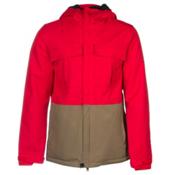 686 Authentic Moniker Mens Insulated Snowboard Jacket, Cardinal Colorblock, medium